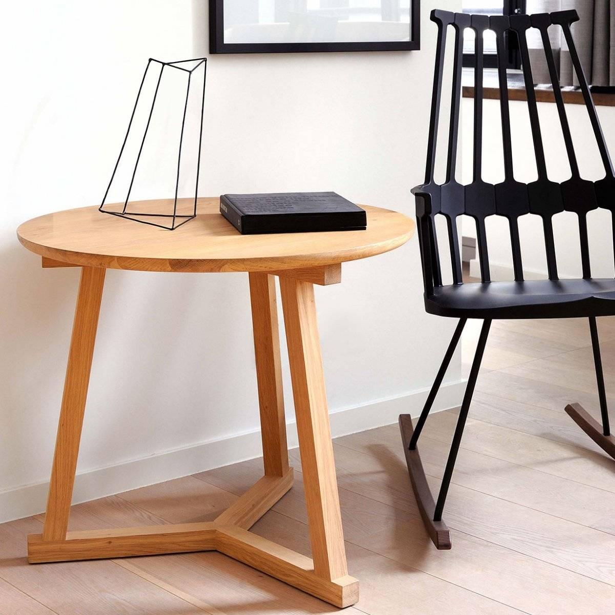 Table Basse Tripod Chêne Ethnicraft - Magasin de meubles design à ...