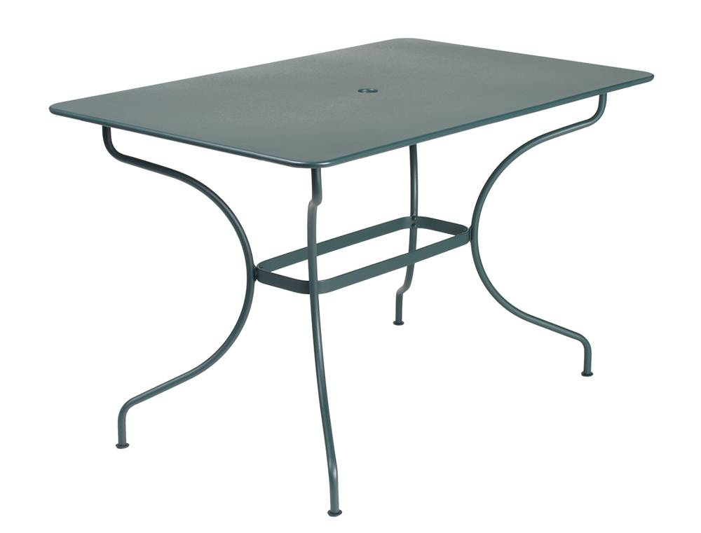 Table op ra carr e ou rectangulaire m tal fermob magasin - Table carree ou rectangulaire ...